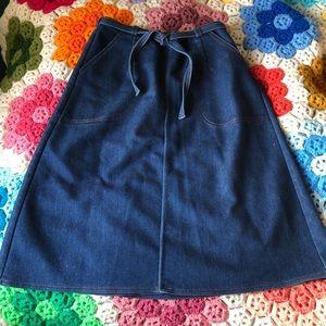VTG 70s Denim Midi Wrap Skirt